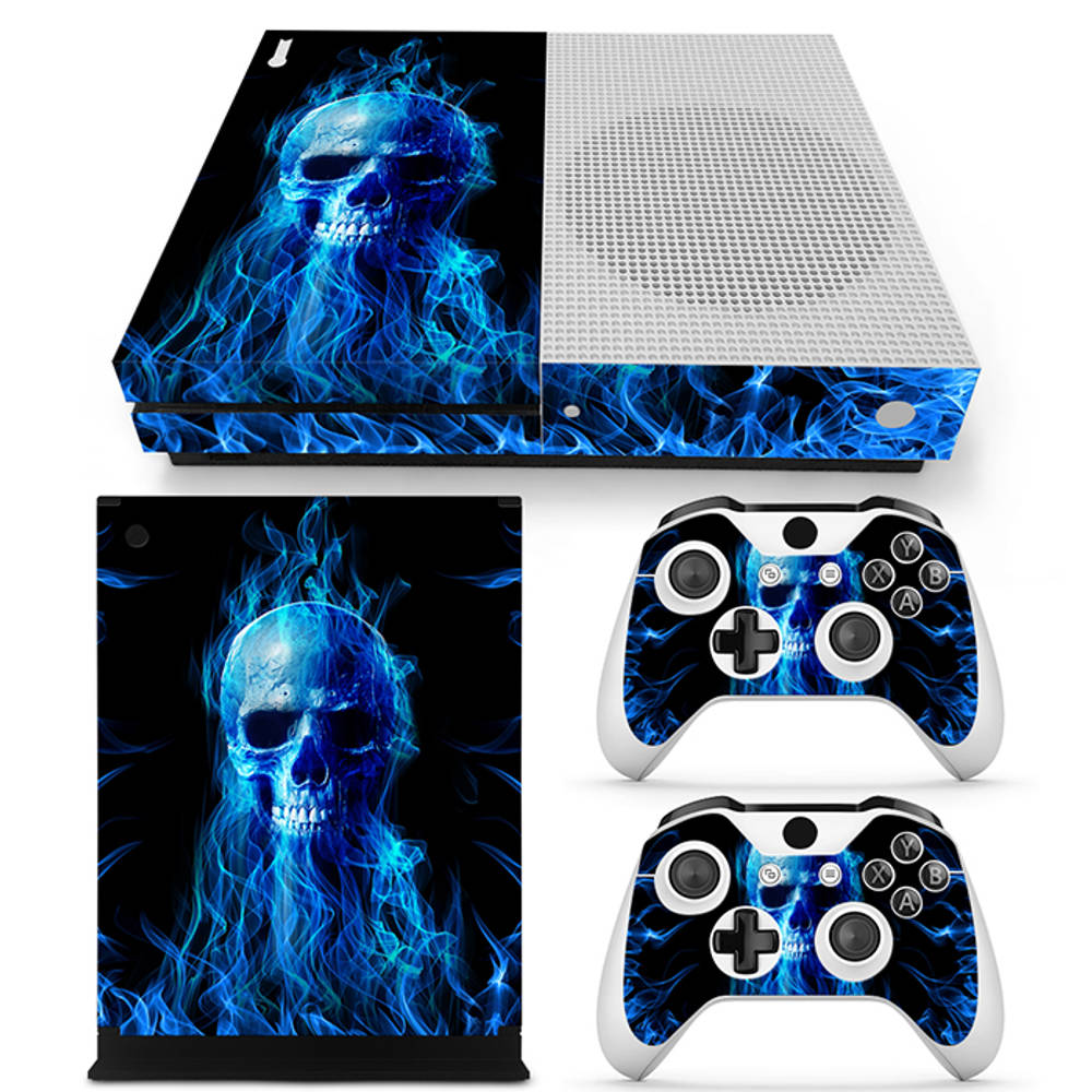 Xbox One S skin Fire Skull