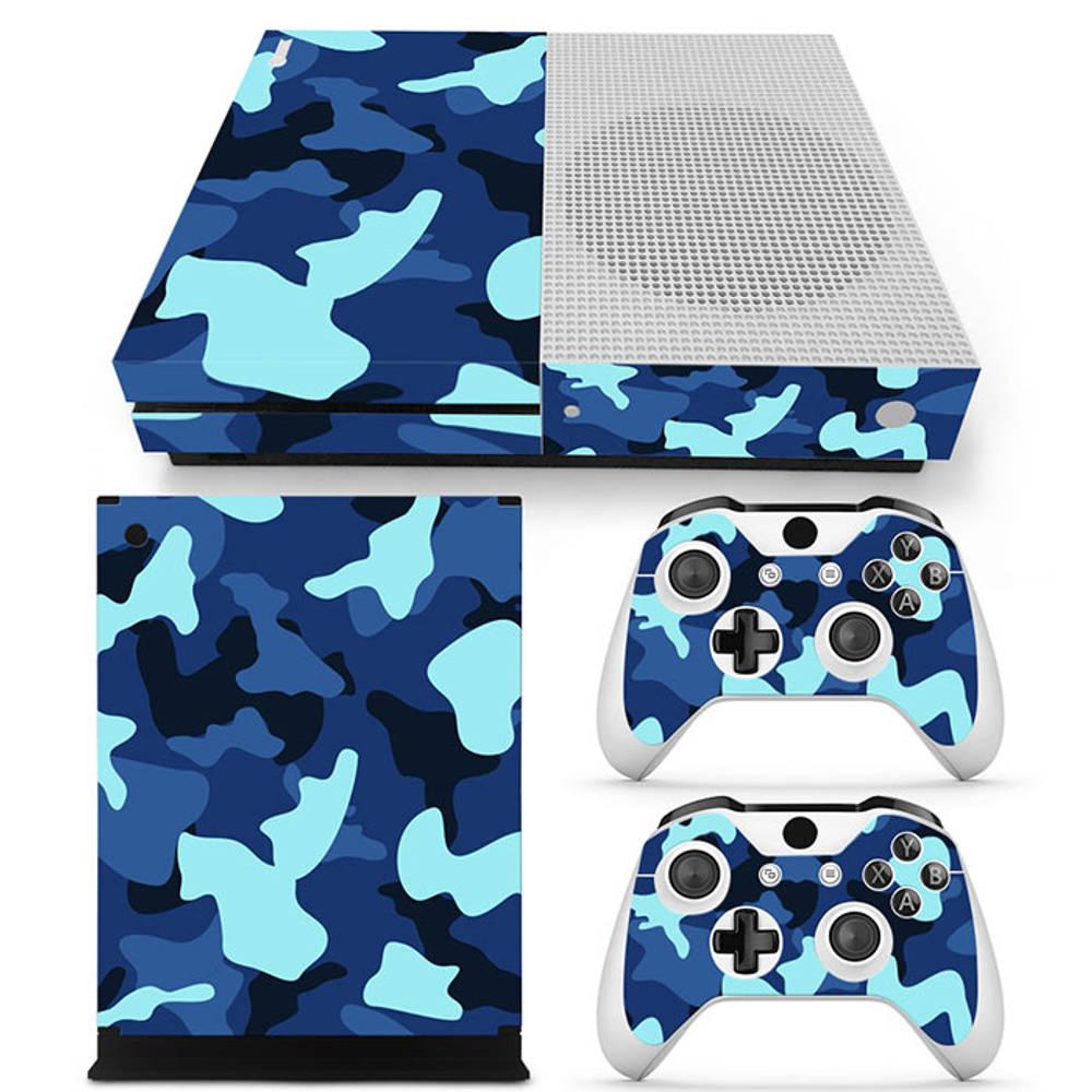 Xbox One S skin Army Camo Blue