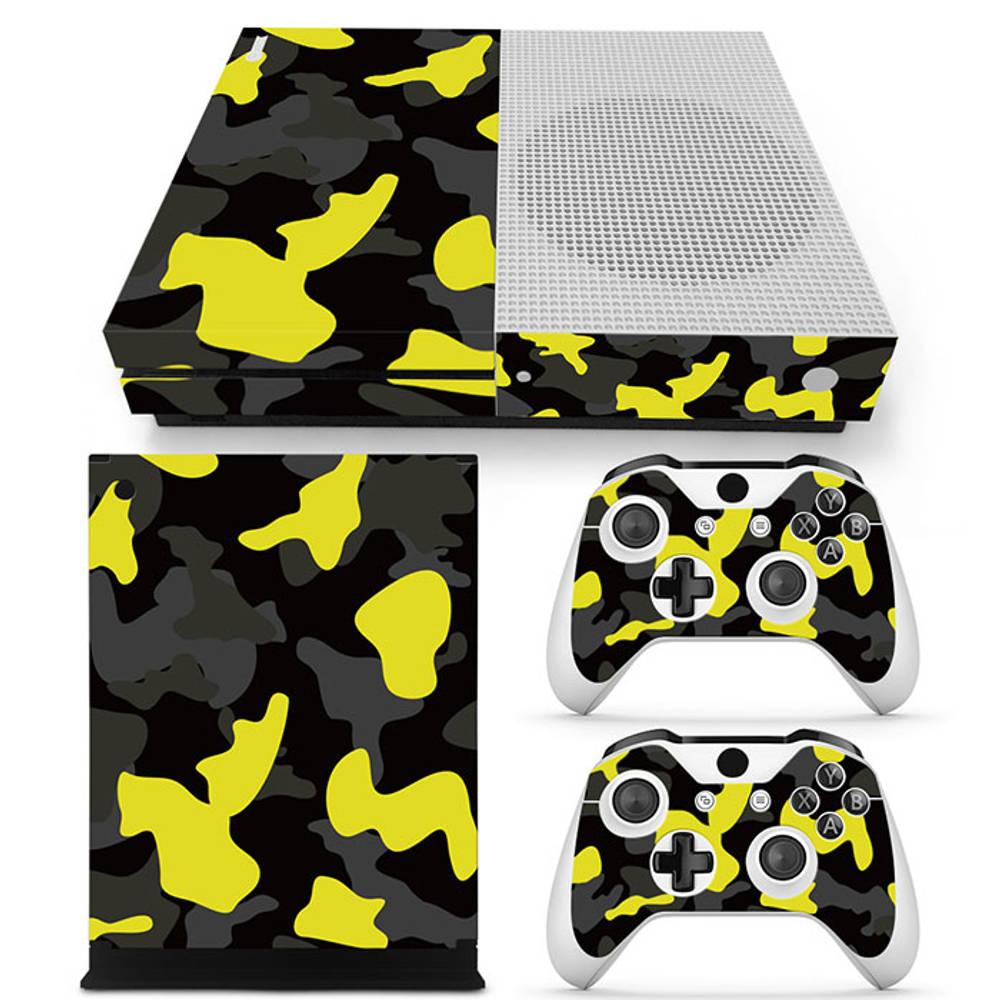 Xbox One S skin Army Camo Yellow