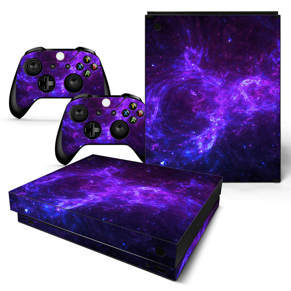 Xbox One X skin Dark Galaxy