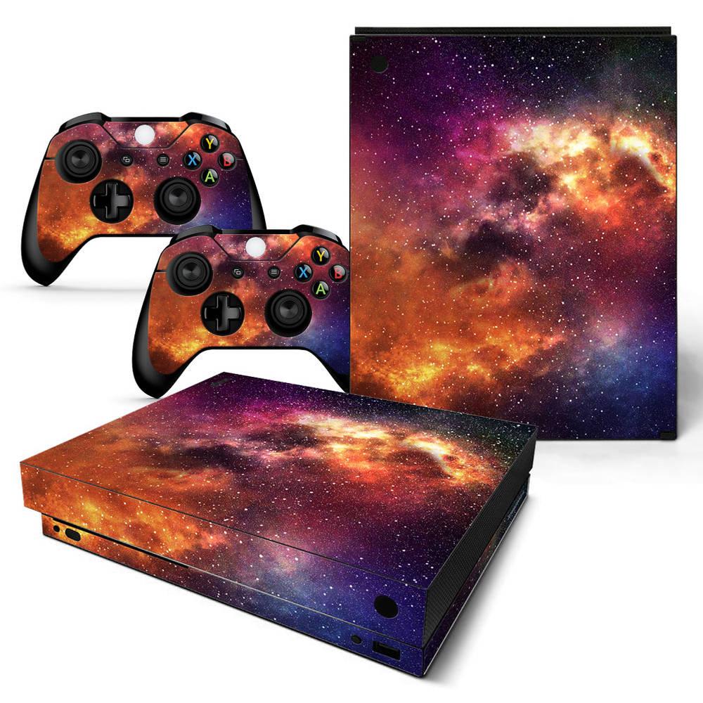Xbox One X skin Starry Sky