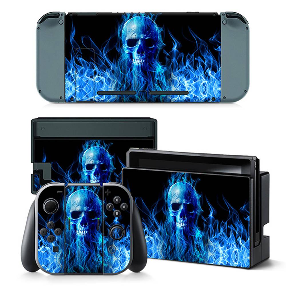Nintendo Switch skin Fire Skull