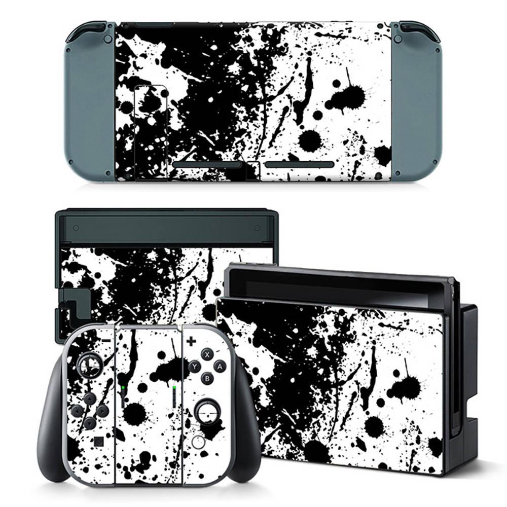 Nintendo Switch skin Splatter Black White