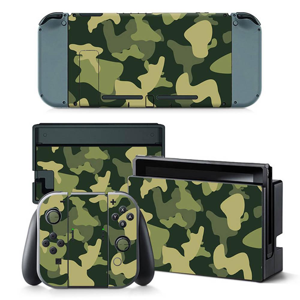 Nintendo Switch skin Army Camo Green