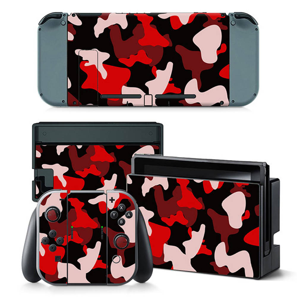 Nintendo Switch skin Army Camo Red