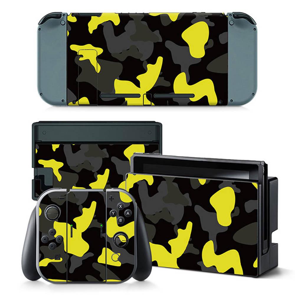 Nintendo Switch skin Army Camo Yellow