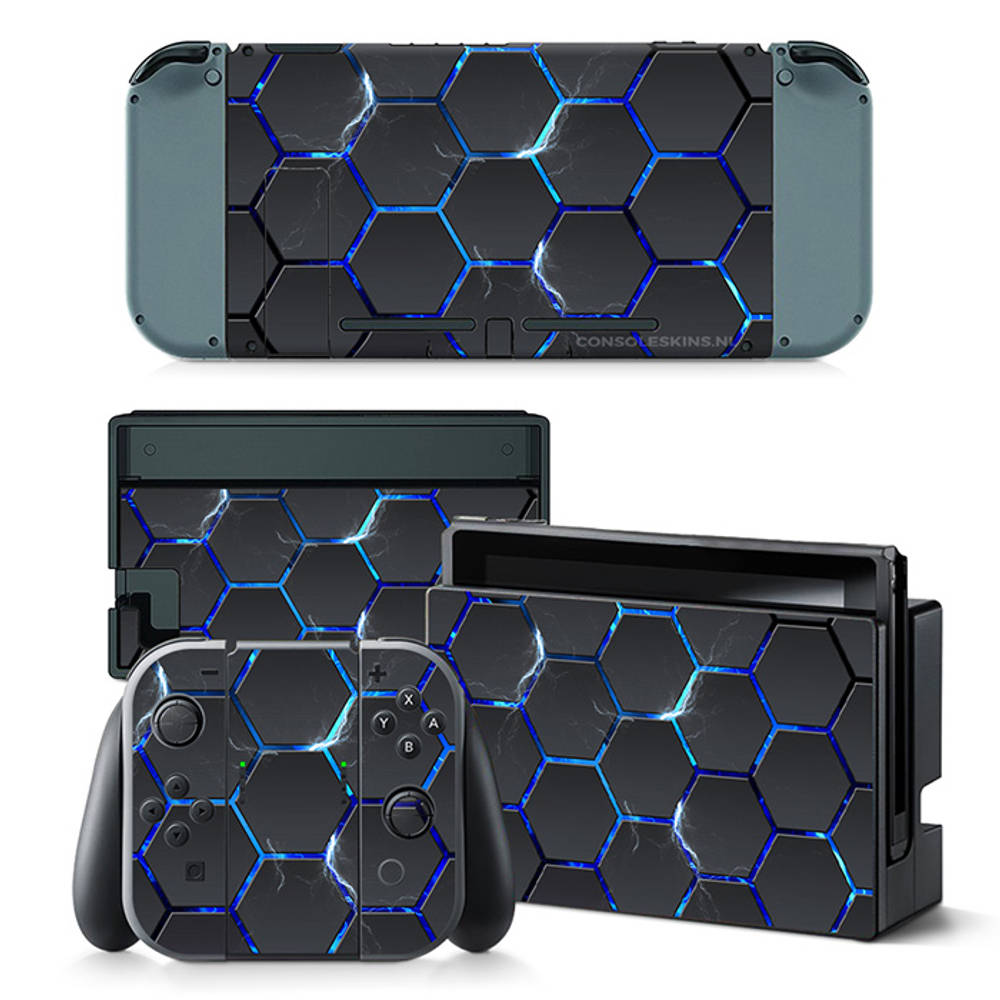 Nintendo Switch skin Hex Lightning