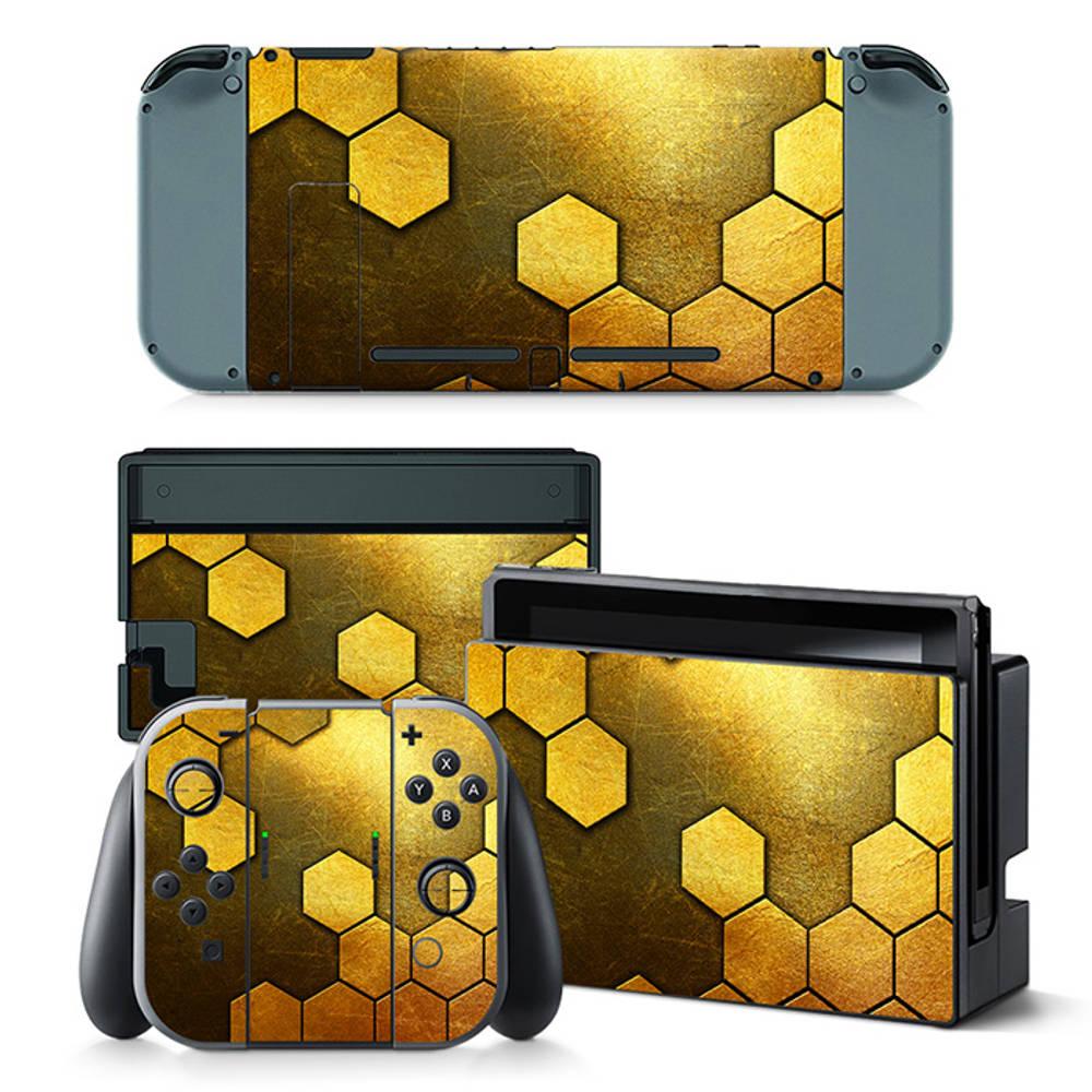Nintendo Switch skin Steel Gold