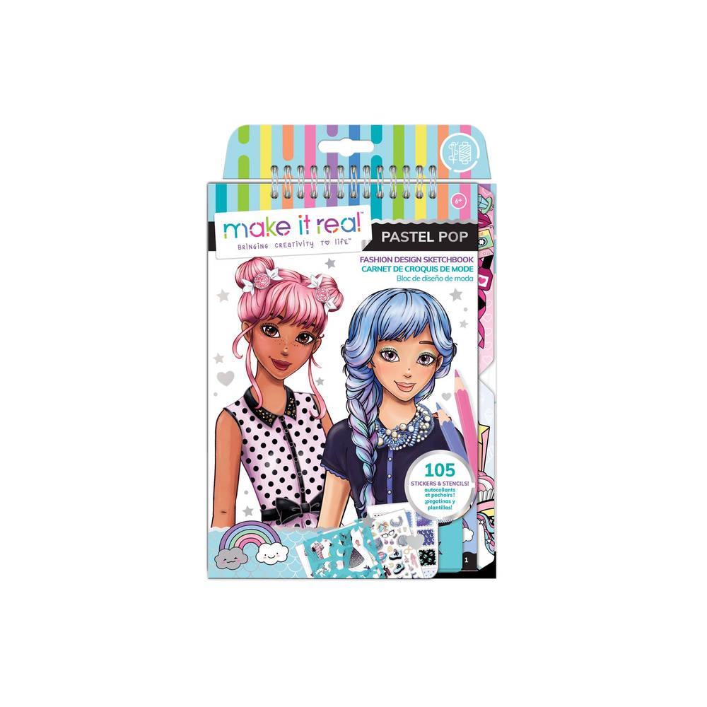 Make it Real Fashion Design ontwerpboek pastel pop
