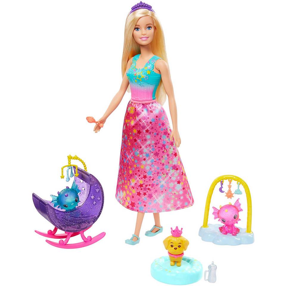 Barbie Dreamtopia babykamer voor draakjes speelset