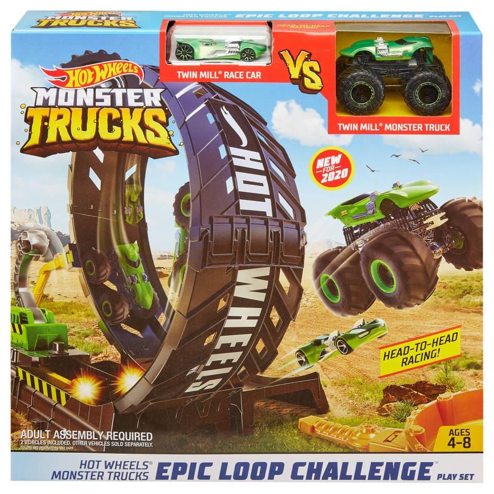 Hot Wheels Monster Truck looping uitdaging speelset