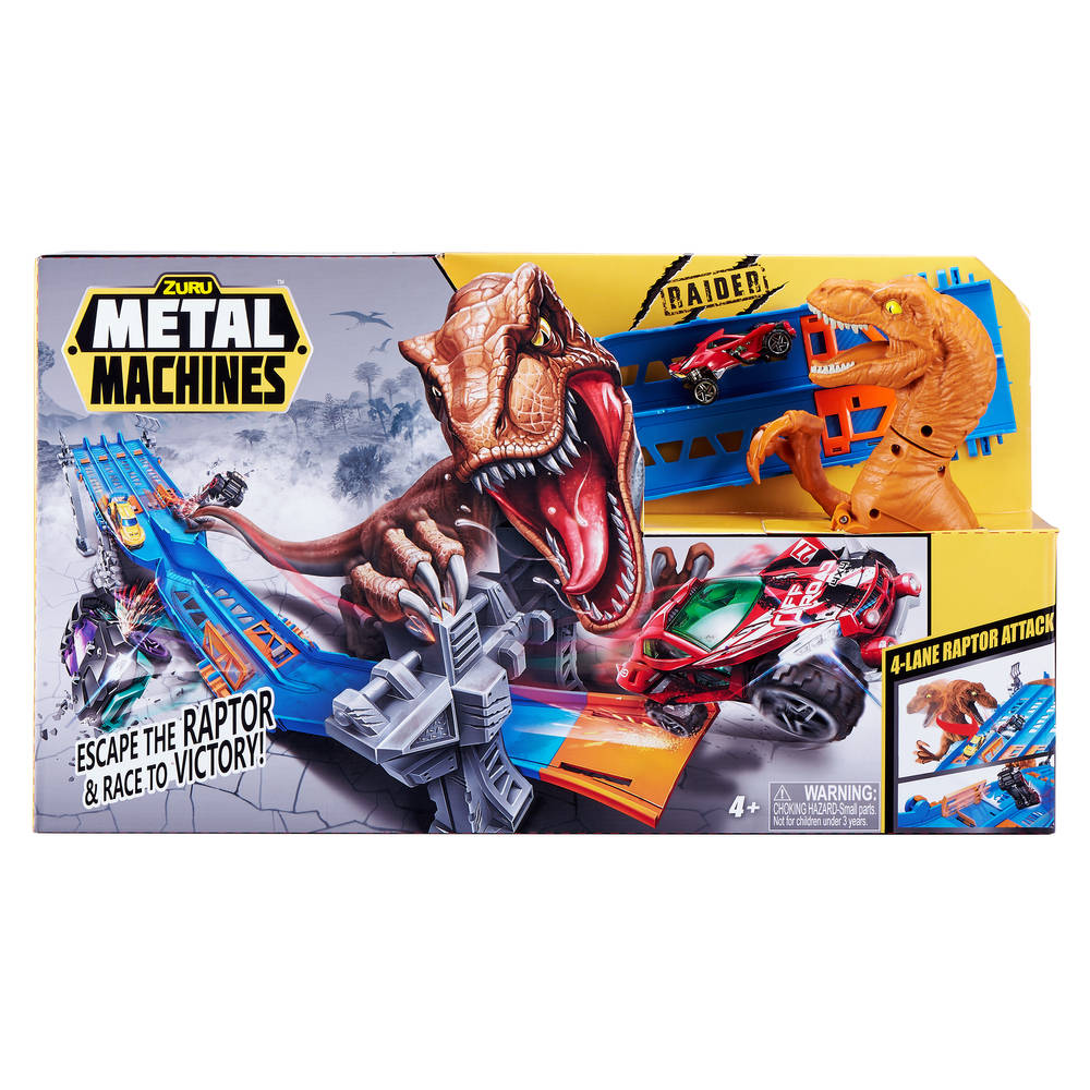 Metal Machines 4-Lane Raptor Attack racebaan