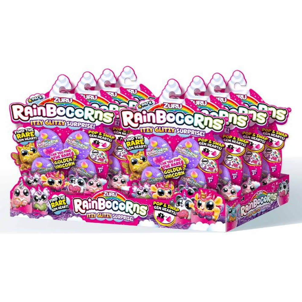 Rainbocorns speelfiguren Itzy Glitzy Surprise 4-pack
