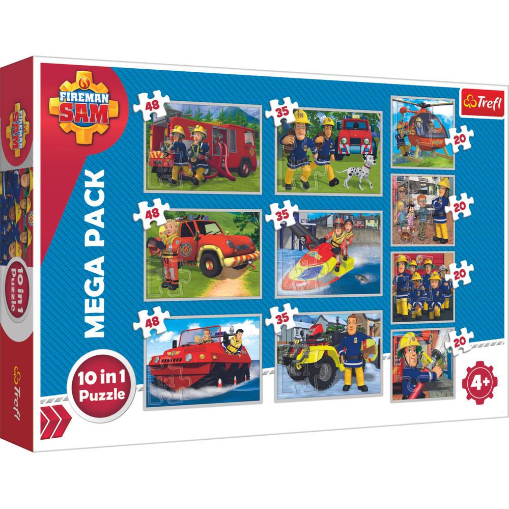 Brandweerman Sam puzzeldoos - 20 + 35 + 48 stukjes