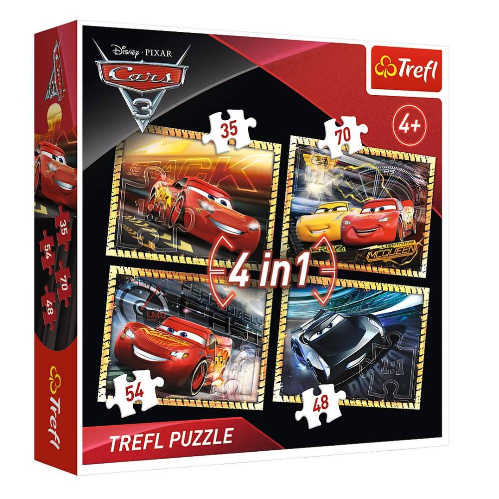Disney Cars 3 4-in-1 puzzelset - 35 + 48 + 54 + 70 stukjes