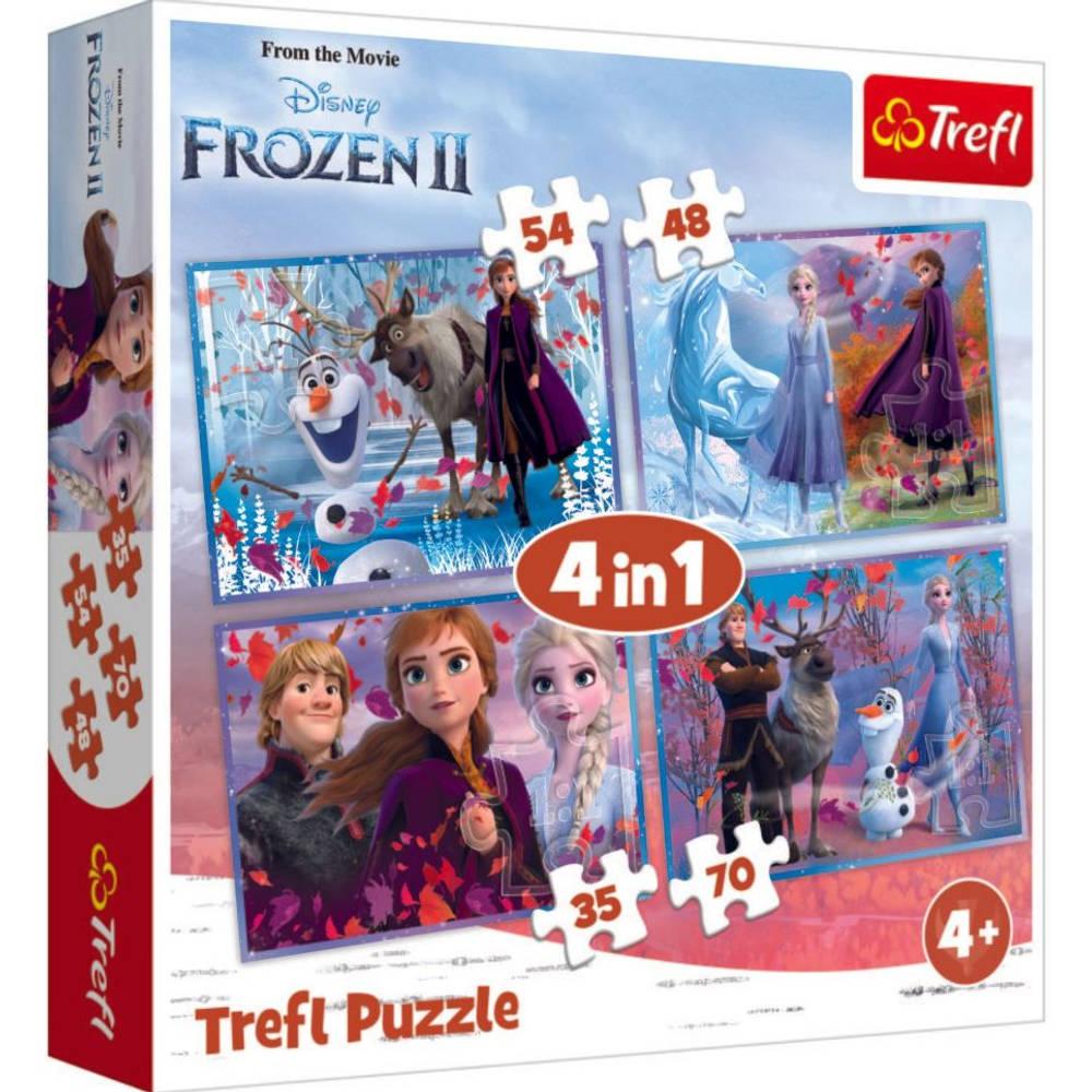 Disney Frozen 2 4-in-1 puzzelset - 35 + 48 + 54 + 70 stukjes