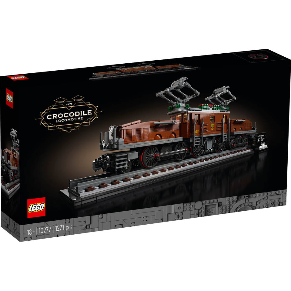 LEGO Creator expert krokodil locomotief 10277