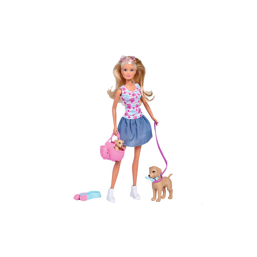 Steffi Love pop met moederhond en puppy