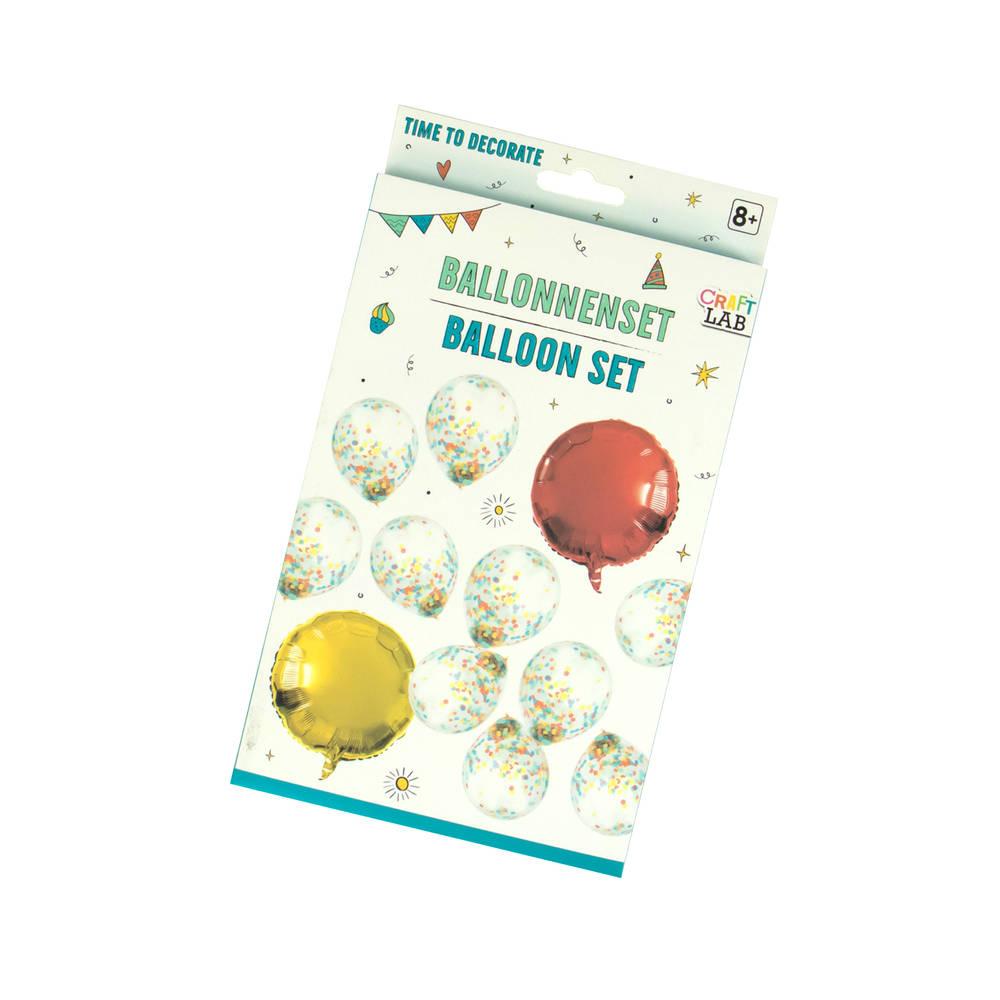 Ballonnen in party stijl set 12-delig