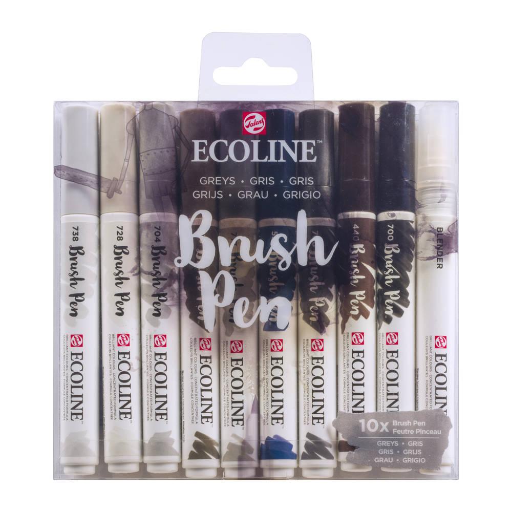 Talens Ecoline penseelstiften - 10 stuks - grijs