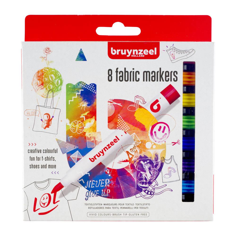 Bruynzeel textielstiften - 8 stuks