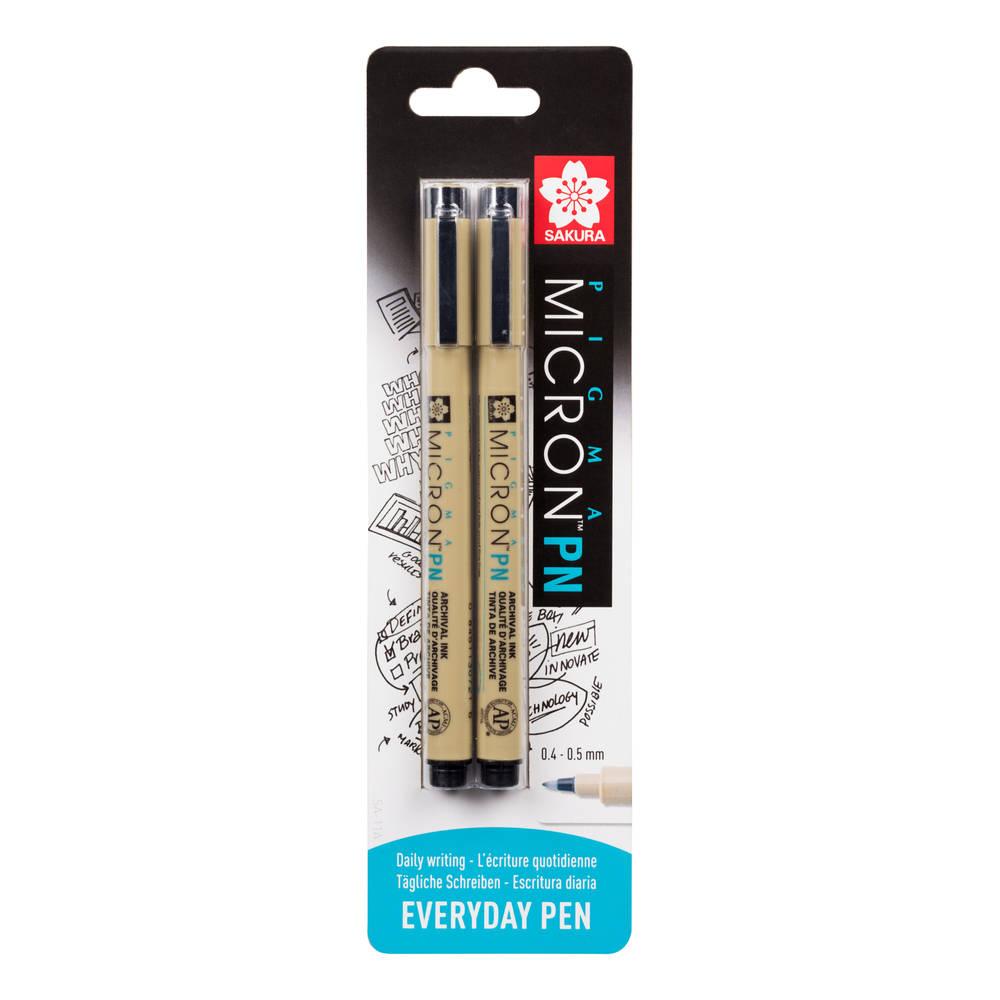 Sakura Pigma Micron PN pennen - 2 stuks - zwart