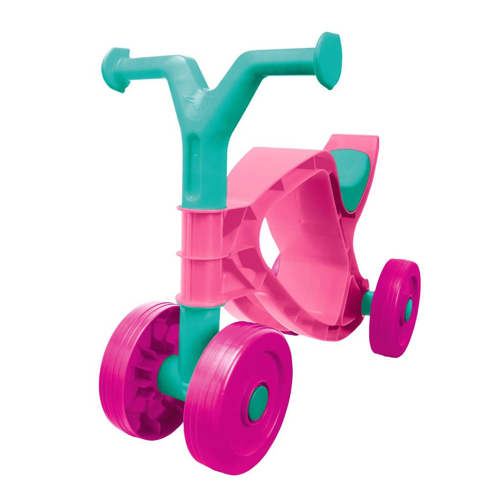 Big Flippi loopfiets - roze/turqouise