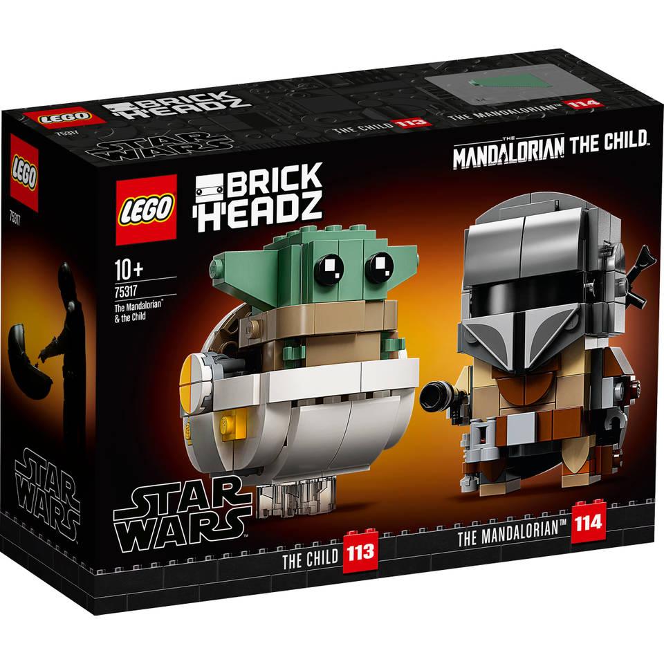 LEGO BrickHeadz Mandalorian en kind 75317