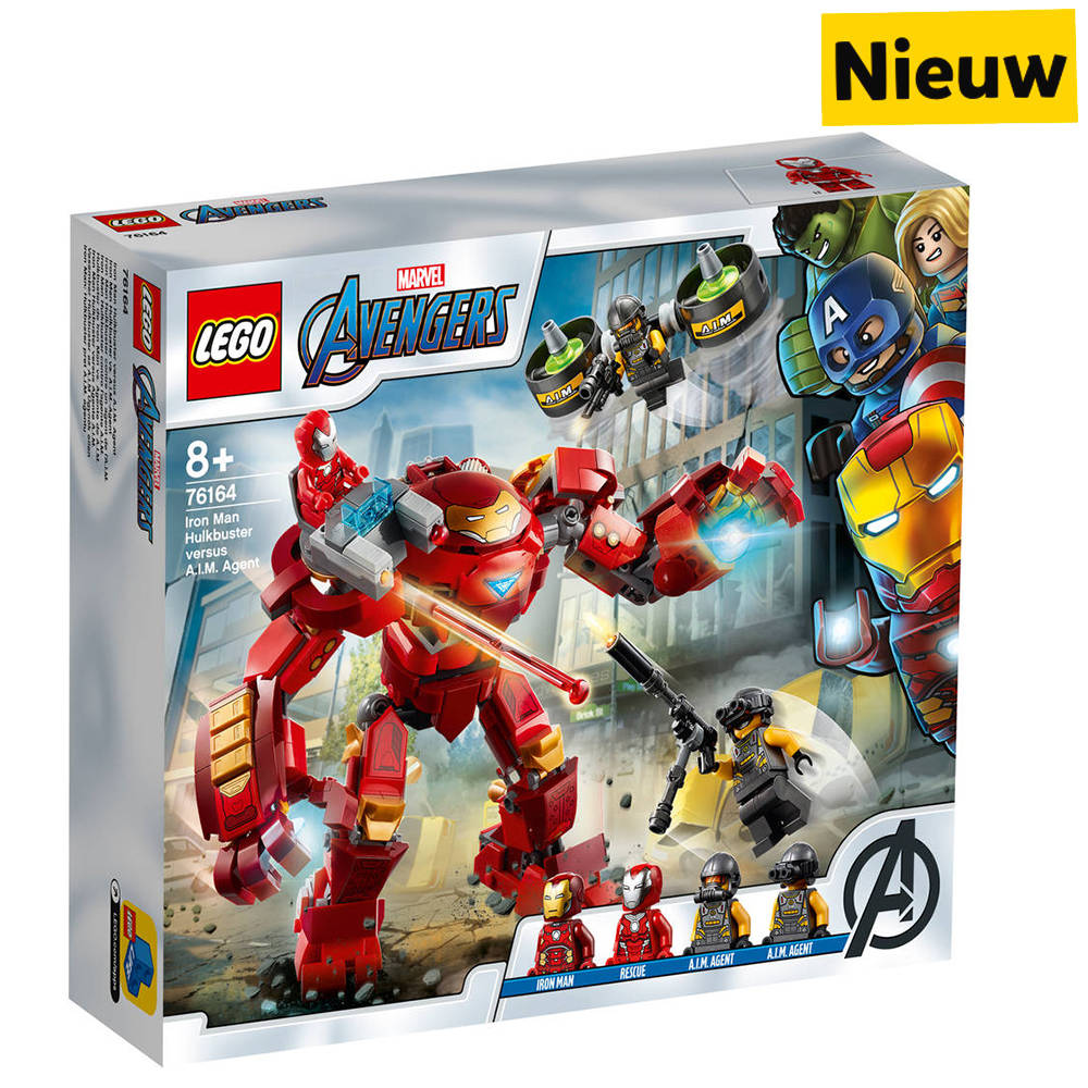 LEGO Marvel Super Heroes Iron Man Hulkbuster versus A.I.M. agent 76164