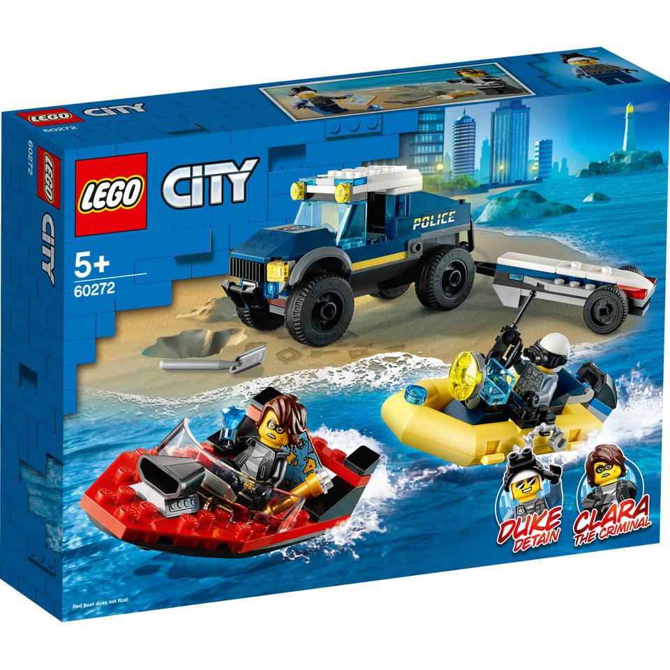 LEGO City elite politieboot transport 60272