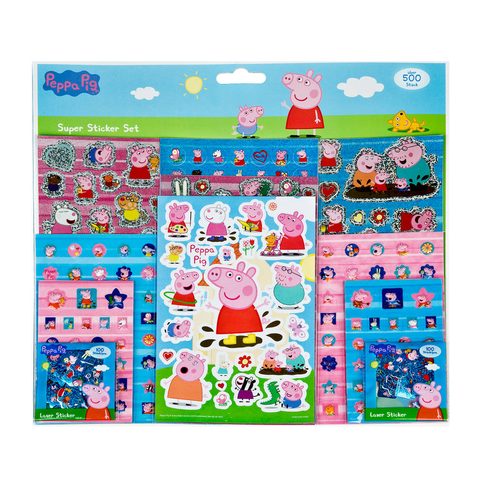 Peppa Pig super stickerset