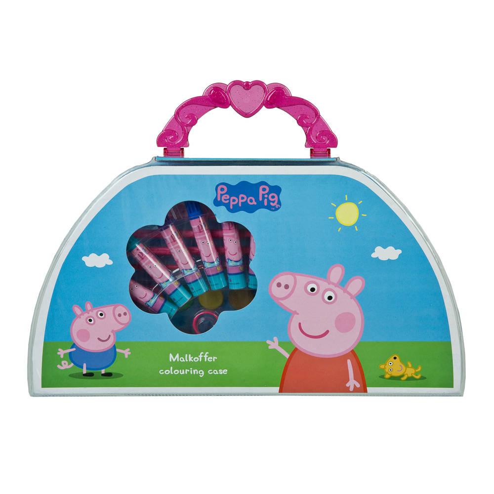 Kleurkoffer Peppa Pig 51-delig