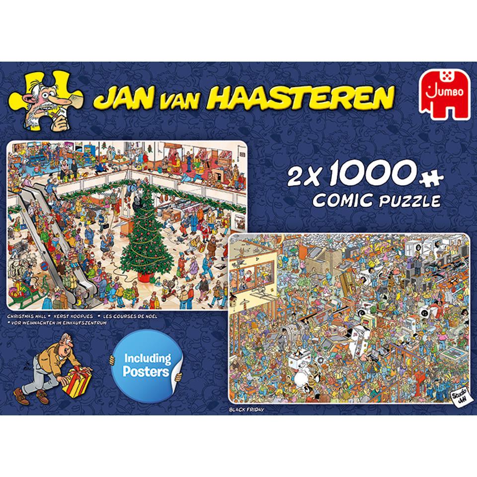 Jumbo Jan van Haasteren Shoppen voor de feestdagen - 2 x 1000 stukjes