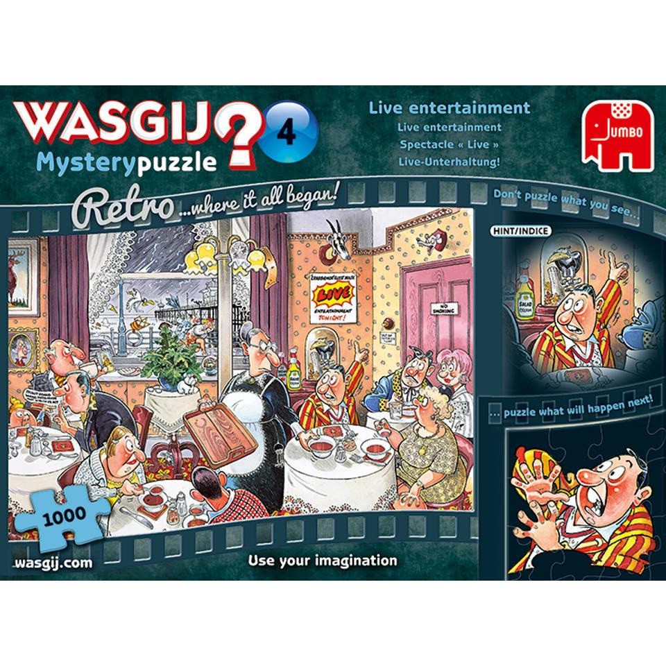 Jumbo Wasgij Retro Mystery puzzel Live Entertainment - 1000 stukjes