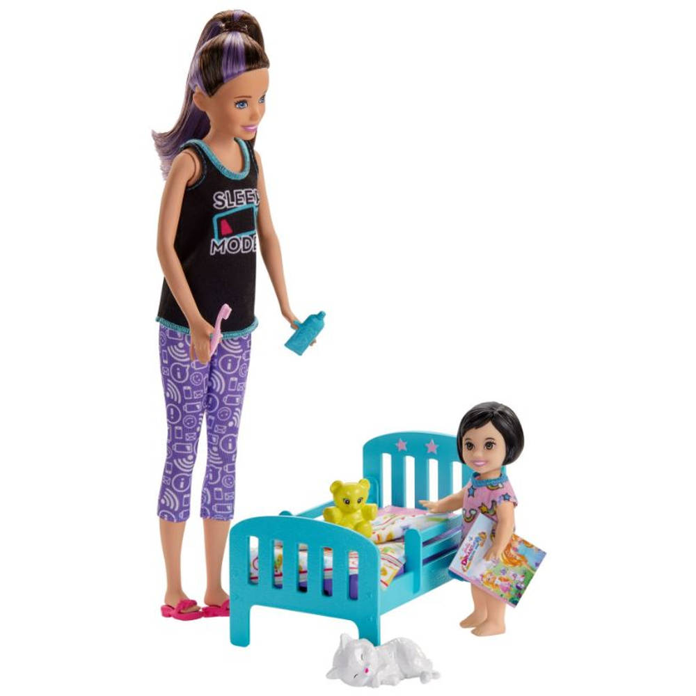 Barbie Skipper babysitter bedtijd speelset