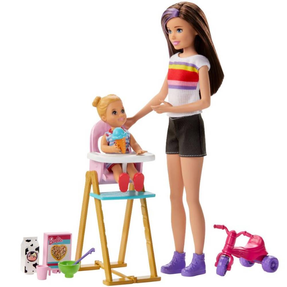 Barbie Skipper babysitter etenstijd speelset