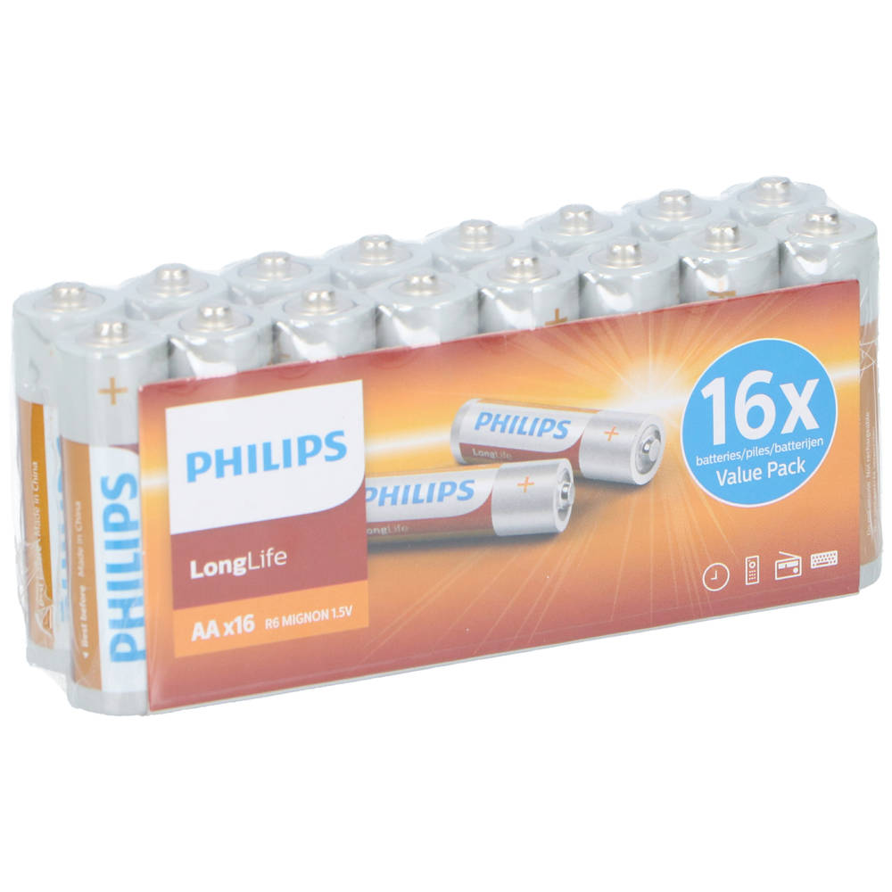 Philips R6-AA batterijen set 16-delig