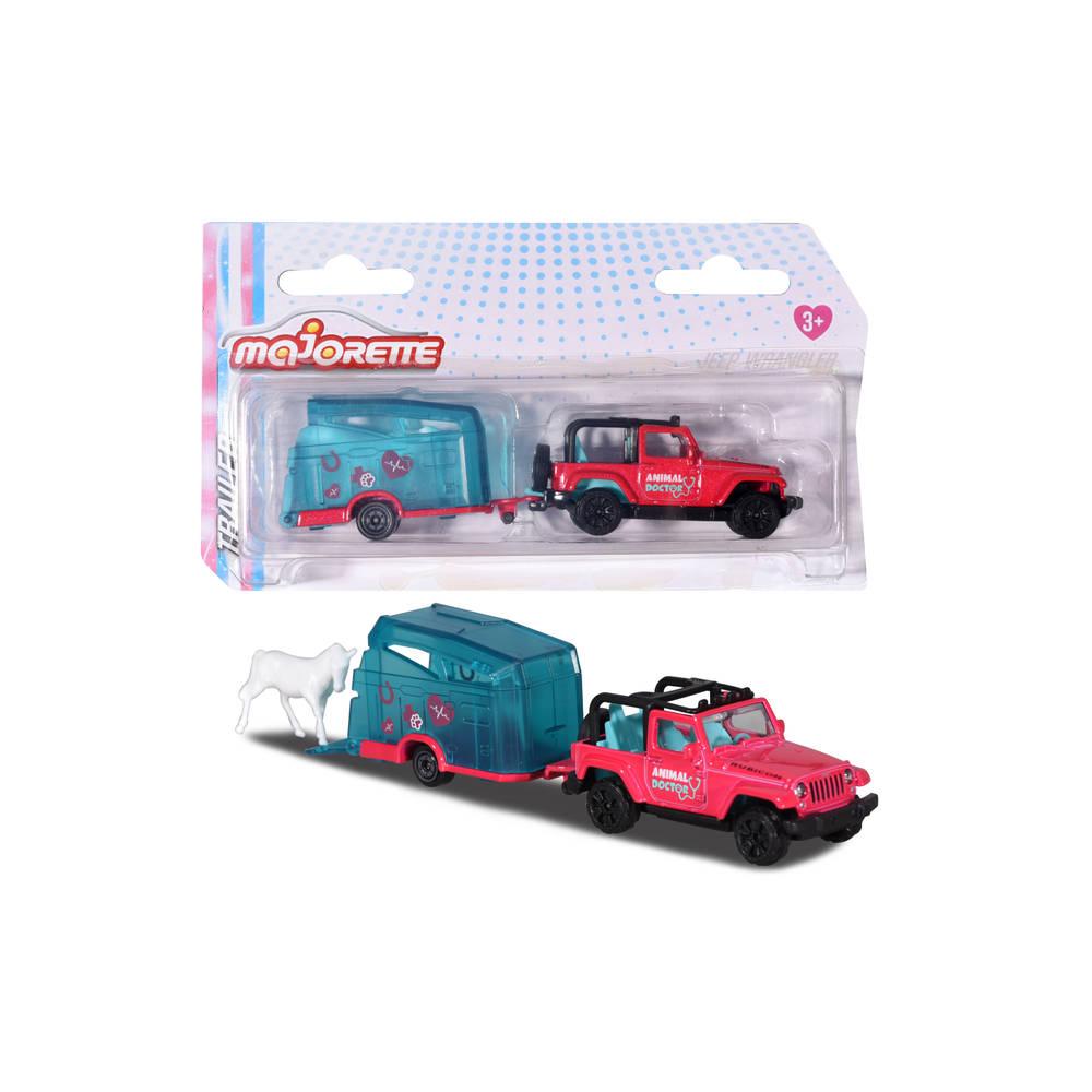 Dickie Toys Drivez Jeep Wrangler met aanhangwagen