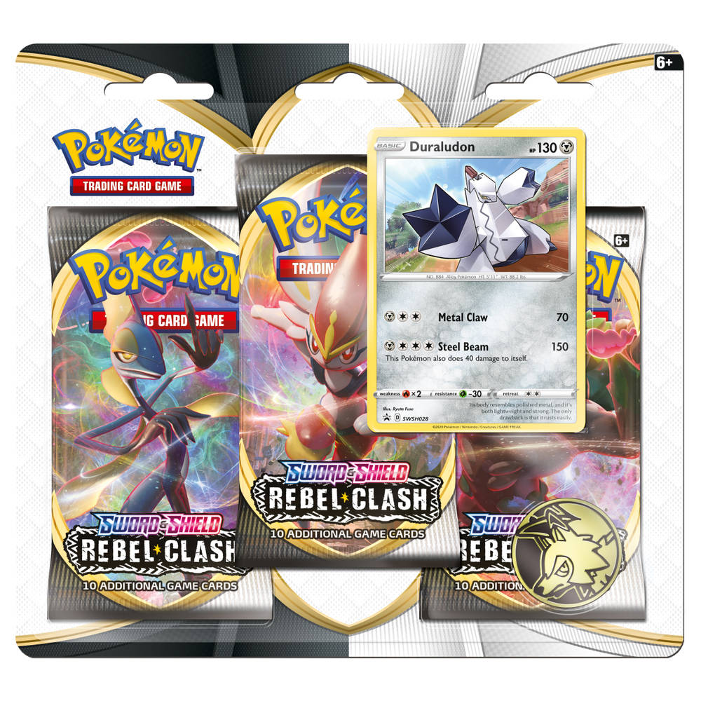 Pokémon TCG Sword & Shield Rebel Clash 3-boosterblister Duraludon