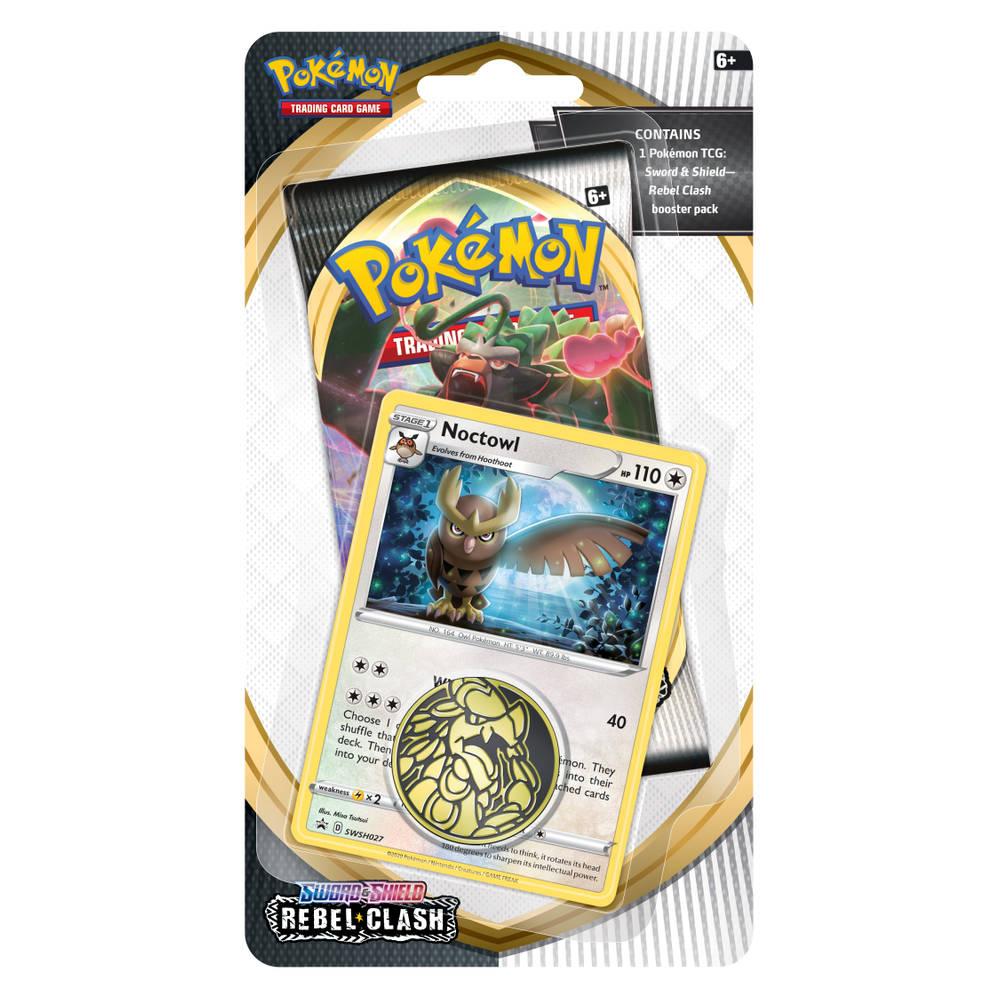 Pokémon TCG Sword & Shield Rebel Clash checklane blister Noctowl