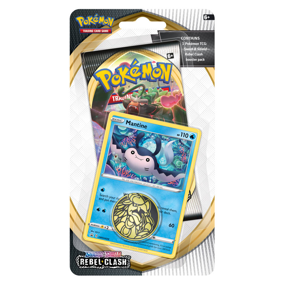 Pokémon TCG Sword & Shield Rebel Clash checklane blister Mantine