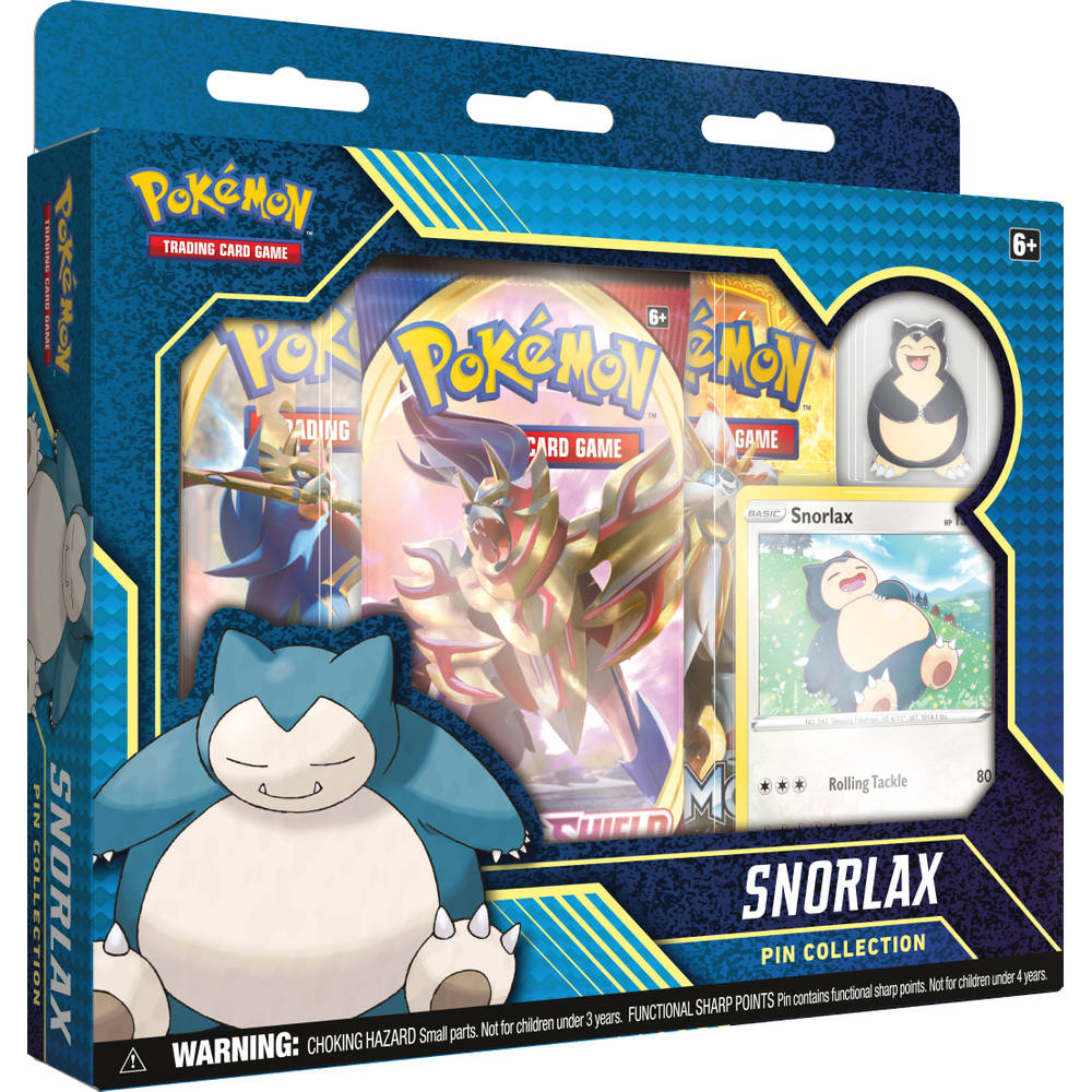 Pokémon TCG Snorlax Pin Collection