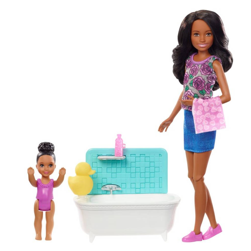 Barbie Skipper babysitter in bad