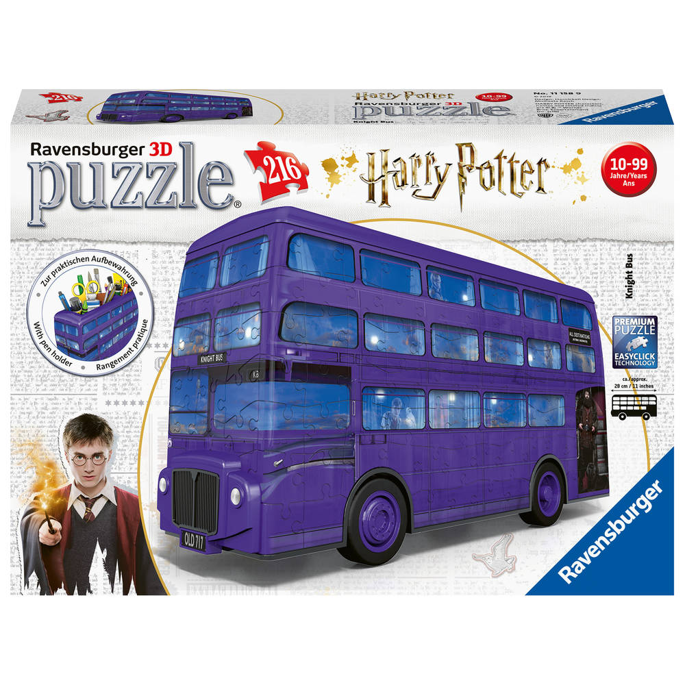 Ravensburger 3D-puzzel Harry Potter bus - 216 stukjes