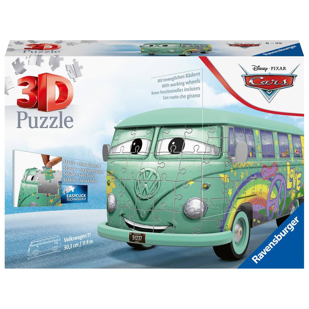 Ravensburger 3D-puzzel Disney Cars Volkswagen T1 bus - 162 stukjes