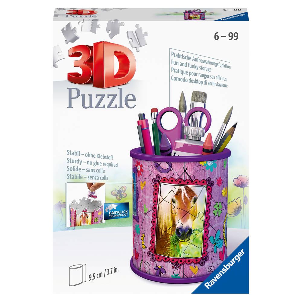 Ravensburger 3D puzzel pennenbak paarden - 54 stukjes