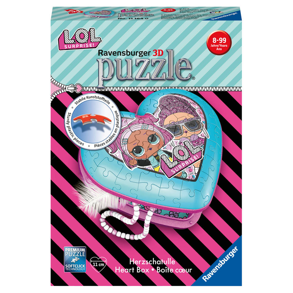 Ravensburger 3D puzzel L.O.L. Surprise hartendoosje - 54 stukjes