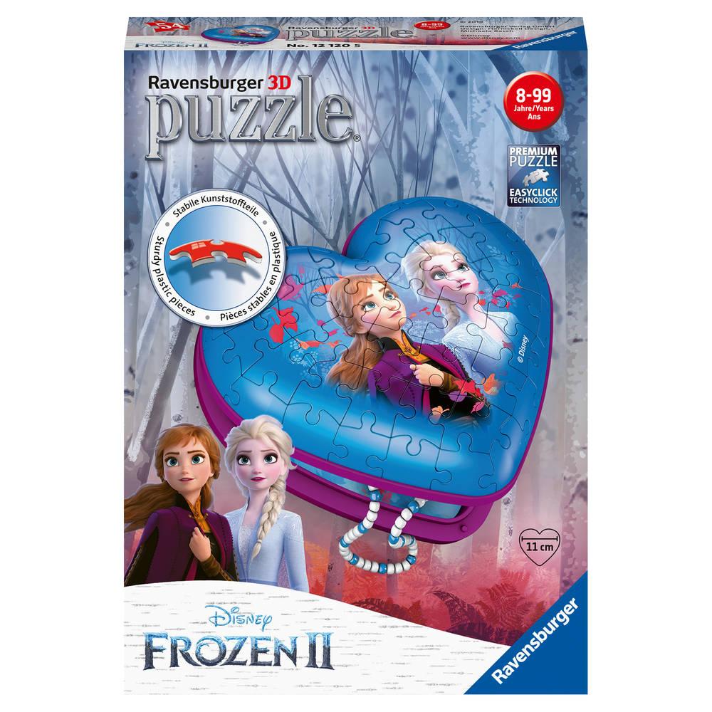 Ravensburger 3D-puzzel Disney Frozen 2 hartendoosje - 54 stukjes