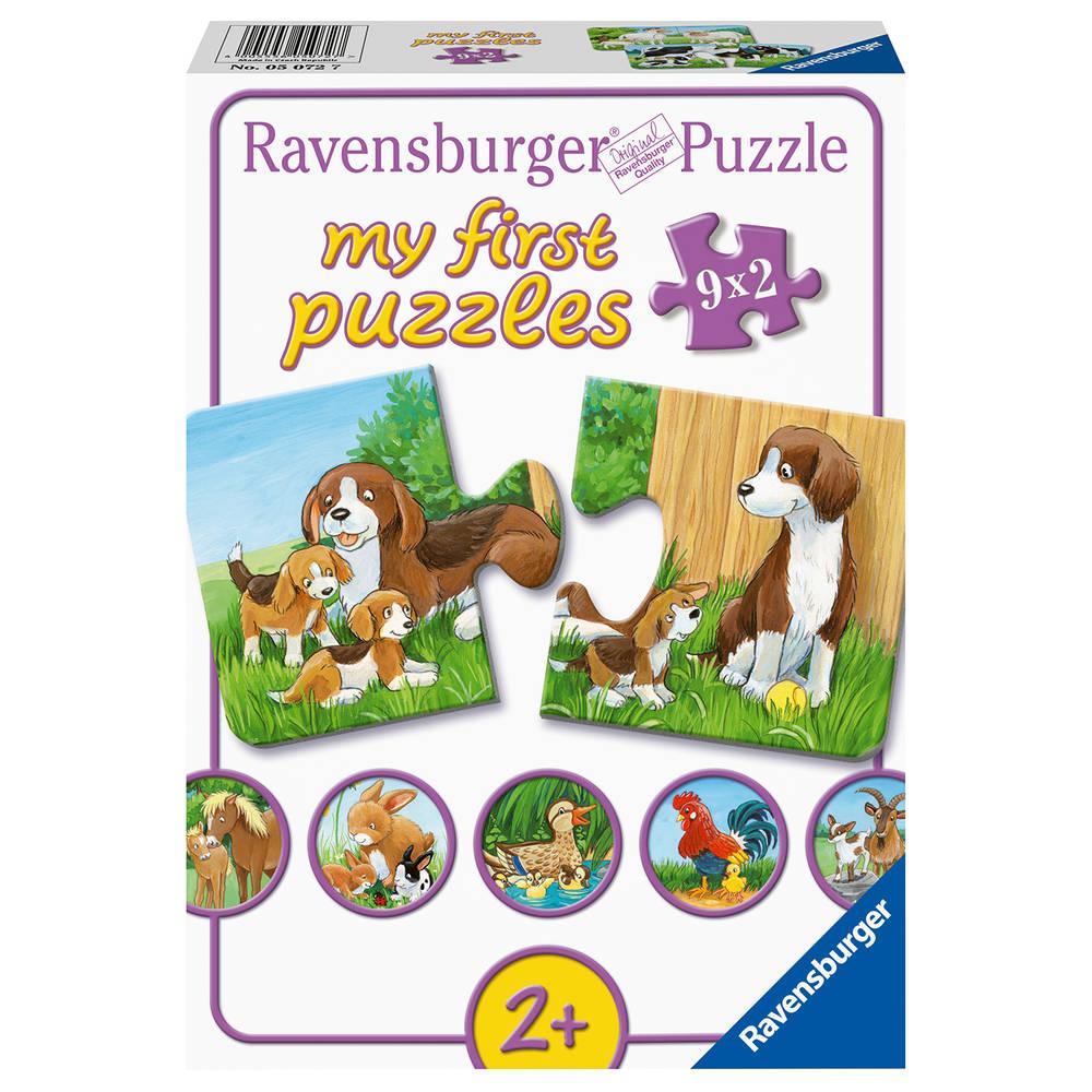 Ravensburger Mijn eerste puzzel dierenfamilies op de boerderij - 9 x 2 stukjes