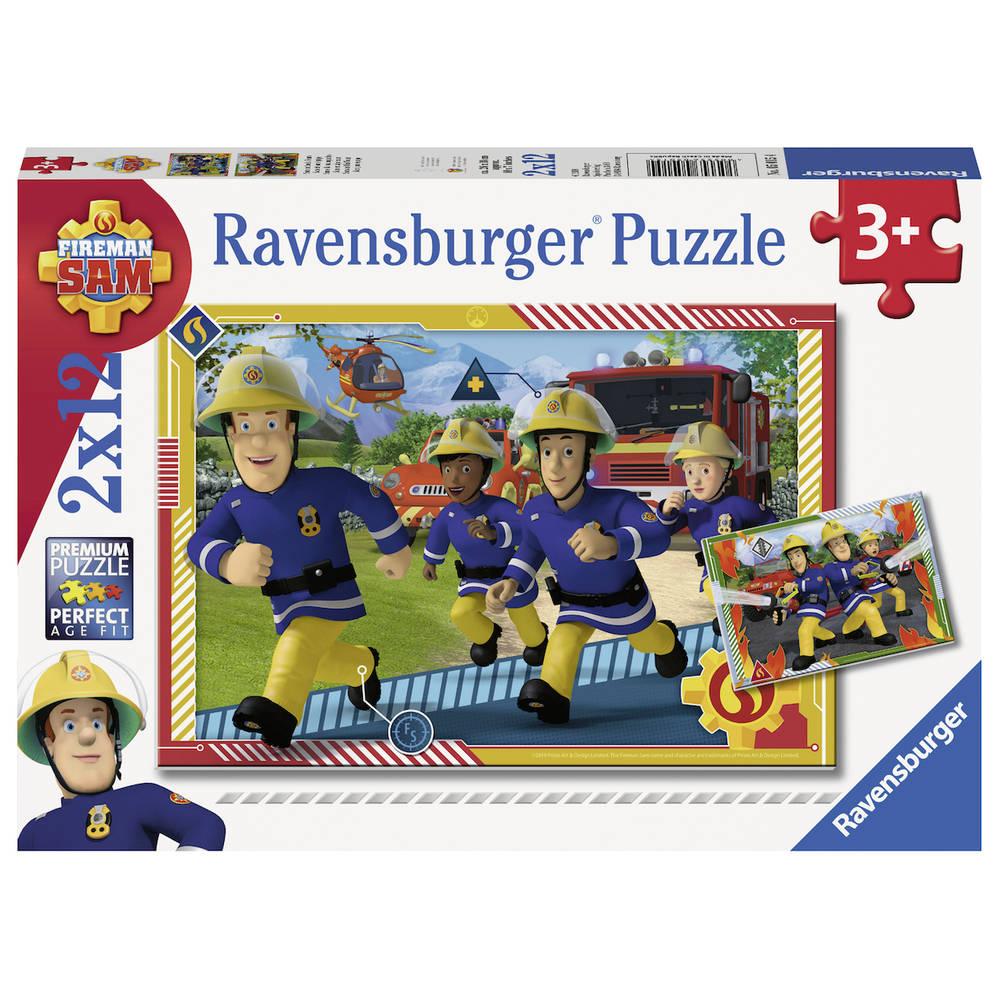 Ravensburger Brandweerman Sam puzzelset Brandweerman Sam en zijn team - 2 x 12 stukjes